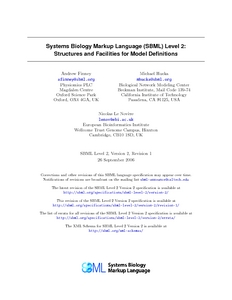 Systems Biology Markup Language