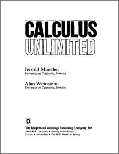Calculus Unlimited - CaltechAUTHORS